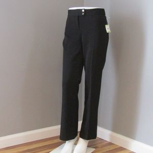 NEW Anne Klein Black Cropped Trousers Size 4